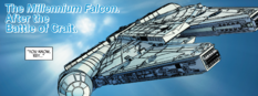 Millennium Falcon post Crait