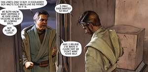 Owen confronts Kenobi