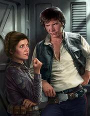 Han and Leia Razor Edge art by Trevas