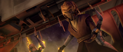 Plo Koon and wolfpack members