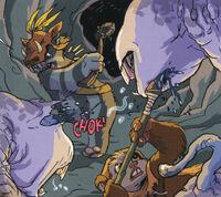 Ewoks fight griagh