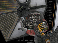 Sf space superiority fighter cross-section
