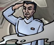 Clone naval officer Ukio