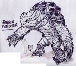 Jungle rancor concept art