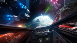 Dogfight in the Wobani system-X-wing VR Mission