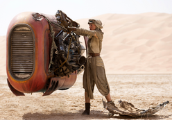 Rey loading speeder