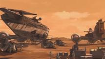 Republic gunship flying