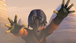 Ezra uses the force