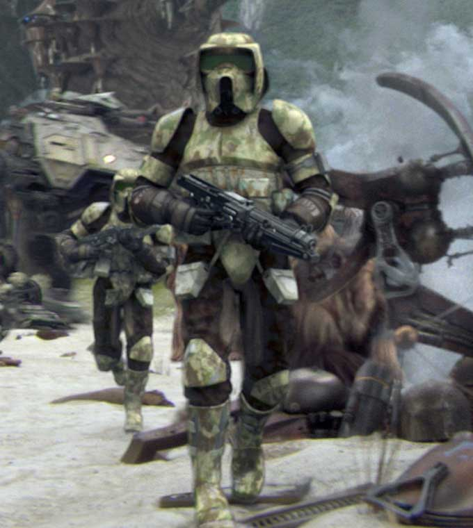 Image result for elite corps clone trooper revenge of the sith kashyyyk