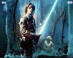 Luke and Yoda - Graffiti Splatter