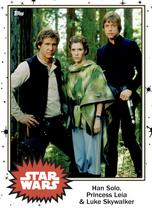 Han Solo, Princess Leia & Luke Skywalker - Base Series 4