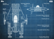 Blueprints-12-A-wingFighter-Blue-Front