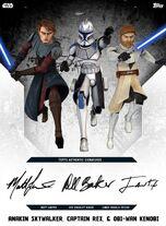 Anakin Skywalker, Captain Rex, & Obi-Wan Kenobi - Rank & File
