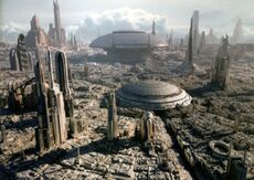 Coruscant on a clear day
