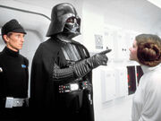 Vader is pointing