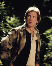 Han in his trenchcoat on Endor