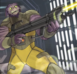 Artwork of Zeb, firing at Imperials