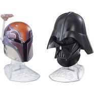 Sabine and Vader Helmets