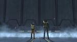 Ezra and Kanan force wall