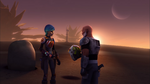 Sabine Wren and Rex on Atollon
