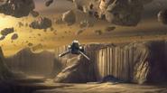 Phantom-approaching-an-asteroid-base