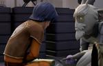 Ezra and unknown lifeform