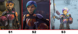 Sabine's Armor & Hair Series Progression