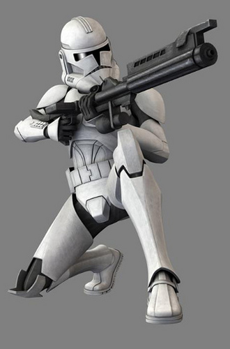 Perfect Standard Phase 2 Clone Wars Clone Trooper
