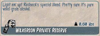 Wilkerson private reserve