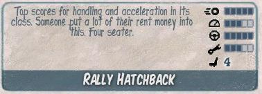 Rally hatchback
