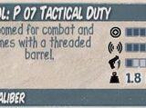P 07 Tactical Duty