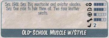 Old school muscle w style