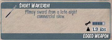 Short Wakizashi