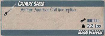 Cavalry Saber