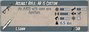 Assault rifle ar 15 custom