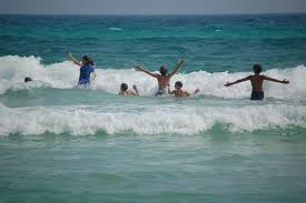 File:People Playing in the ocean.jpg