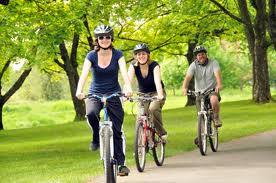 File:People on a bike ride.jpg