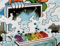 Chaos Emeralds in a refrigerated box