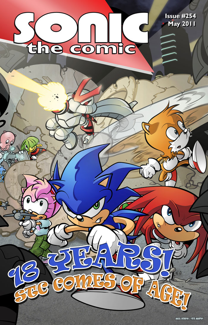 issue 254 sonic the comic wiki fandom powered by wikia