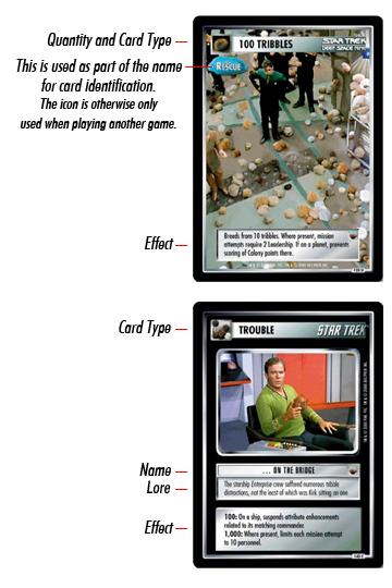 Trouble with tribbles cards