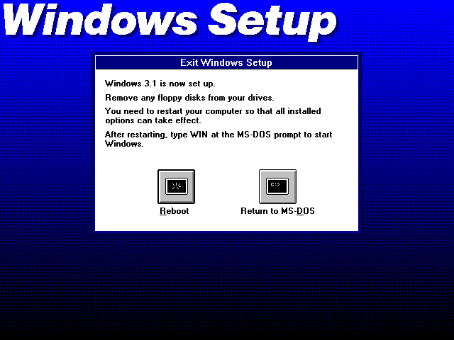 DOSBOX Windows 3 1 - Comparing Setups of Whole Lists (On-Through