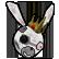 Boo Bunny Plague Emoticon pestilence