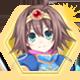 Hyperdevotion Noire Goddess Black Heart Badge Foil