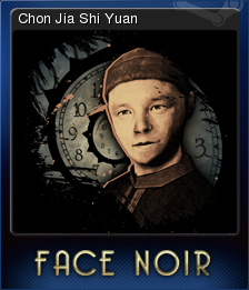 Face Noir Card 5