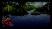 Teddy Floppy Ear Kayaking Background Kayaking