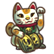 Three Dead Zed Emoticon luckycat
