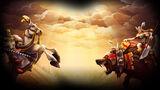 CastleStorm Background Mounted Knight vs Bear Rider