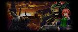 GUNHOUND EX Background Base at Dusk