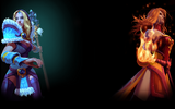 Dota 2 Background Crystal Maiden and Lina