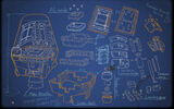 McDROID Background Blue Print